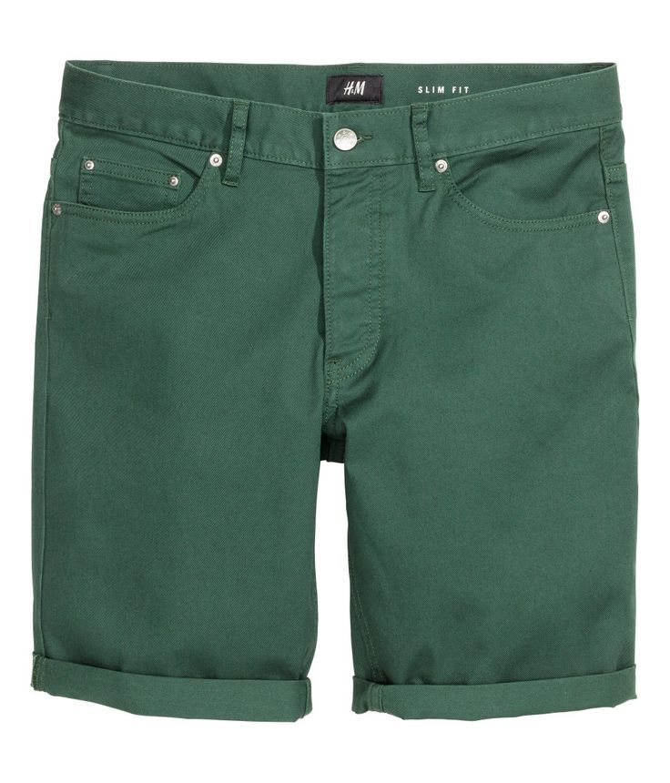 5-pocket shorts in stretch cotton twill  | H&M For Men