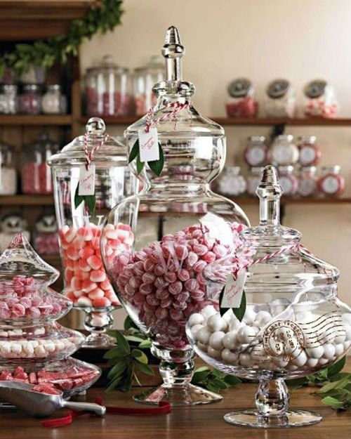 Best christmas candy jar decor images on pinterest