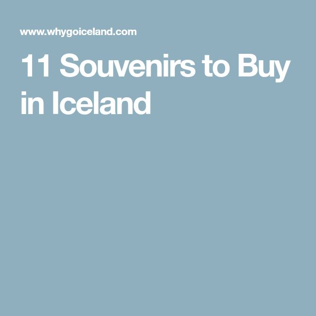 11 Souvenirs to Buy in Iceland