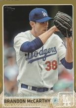 2015 Topps Baseball Gold /2015 #431 Brandon McCarthy - Los Angeles Dodgers