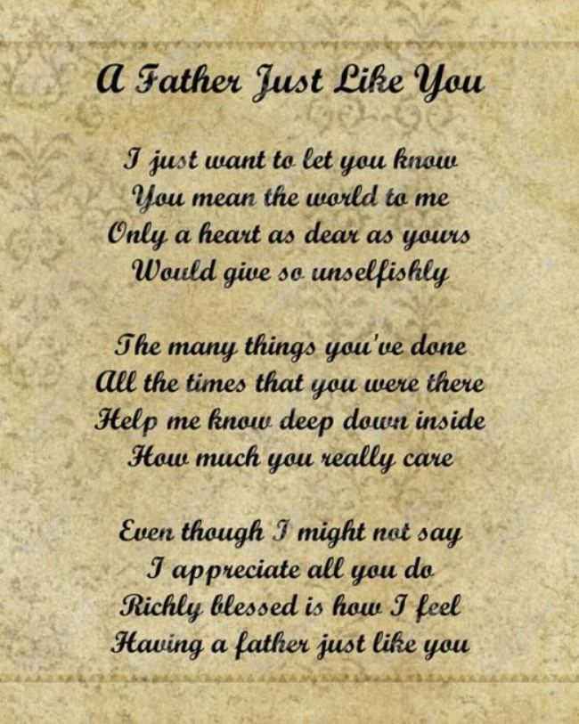 Happy Father's Day Poems Images 2018 To Wish Fathers Day  #happyfathersday2018...