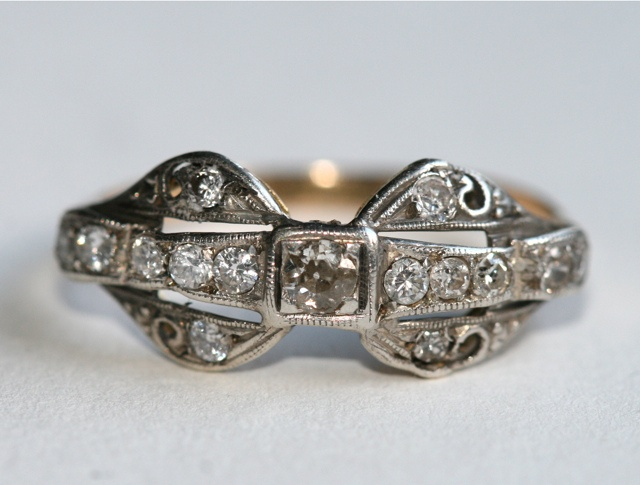 antique edwardian 14kt bow ring my