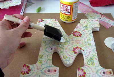 DIY Wooden Letters
