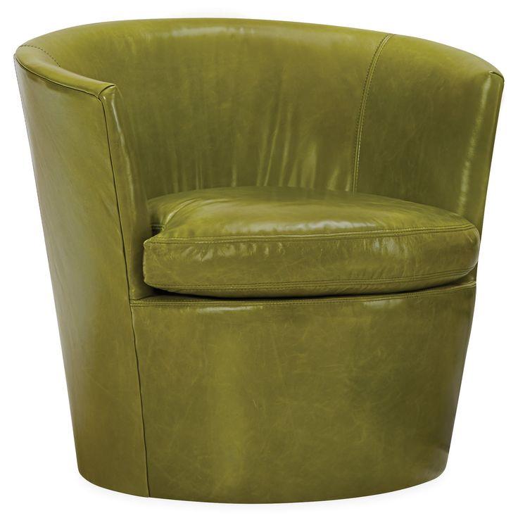 LaSalle Leather Swivel Chair @Zinc_Door