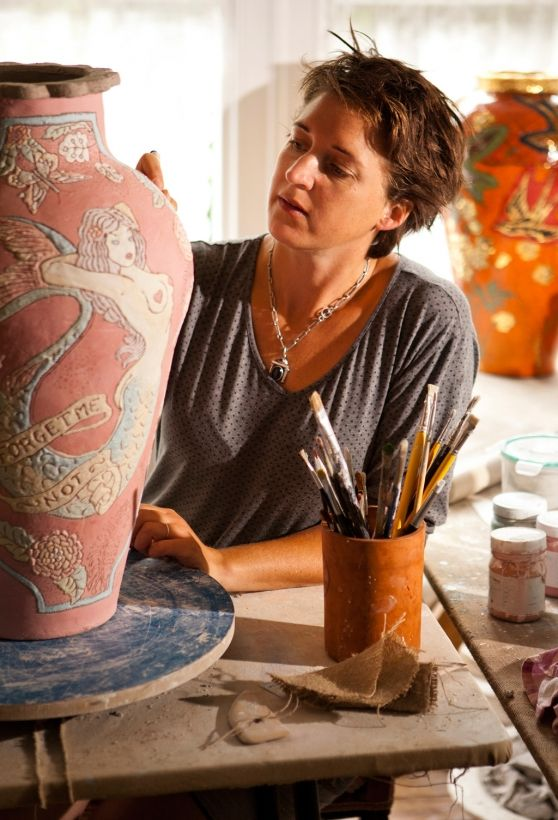 Lucinda Mudge new body of handmade coil vases, showing until 20 May at The Gallery at Grande Provance, Franschhoek. VISI / Articles / Mermaids are mystical For more of her work please visit www.finearts.co.za