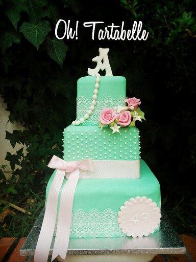 Tarta boda, weeding cake, Oh Tartabelle, tarta cuadrada ...