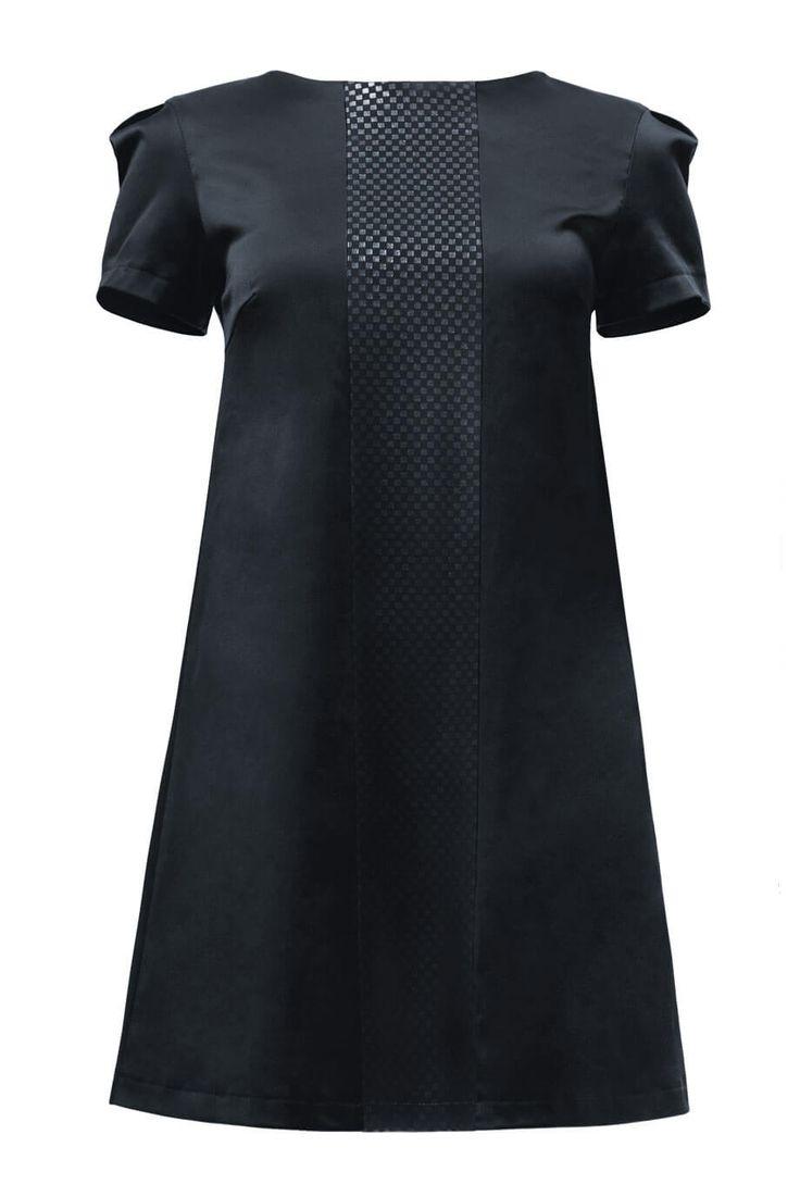 Картинки по запросу платье трапеция черное