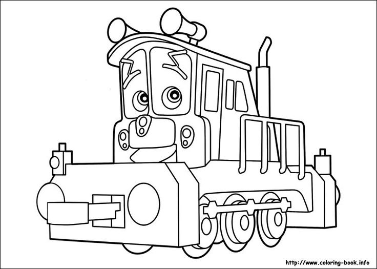 free printable chuggington coloring pages for kids - Chuggington Wilson Coloring Pages
