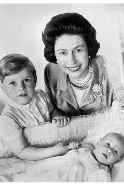 Queen Elizabeth, Prince Edward and Prince Andrew. Just lovely.