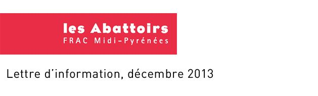 Les Pléiades - 30 ans des FracJusqu'au 5 janvier les Abattoirs À l'occasion des 30 ans des Fonds régionaux d'art contemporain, en plus des cartes blanches offertes à des créateurs en région, les 23 Frac proposent jusqu'au 5 janvier prochain une exposition collective, la première depuis la création des Frac.