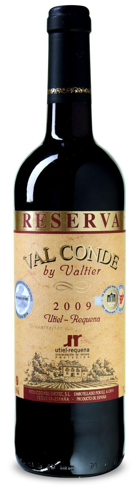 Der Val Conde by Valtier - Reserva, ein spanischer Rotwein. 24 Monate Reifung in Eichenfässern geben dem Wein seinen edlen Geschmack. ✓Tempranillo ✓Bobal