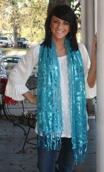 LOVE, LOVE, LOVE these sequin scarves!  Vibrant colors will even follow into the spring!  $11.95