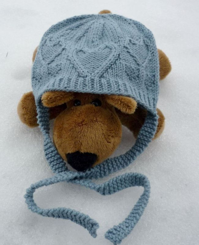 Knitting Pattern Hat With Hearts : Free Knitting Pattern - Hats: From the Heart Hat Hats ...
