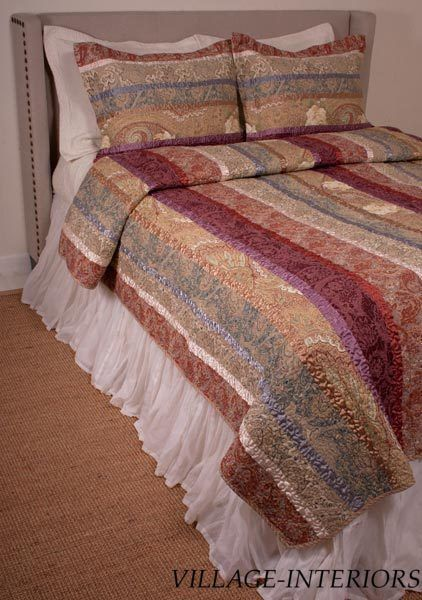 33 best karis bedding images on Pinterest | Comforters, Bed in a ... : discount cotton quilts - Adamdwight.com
