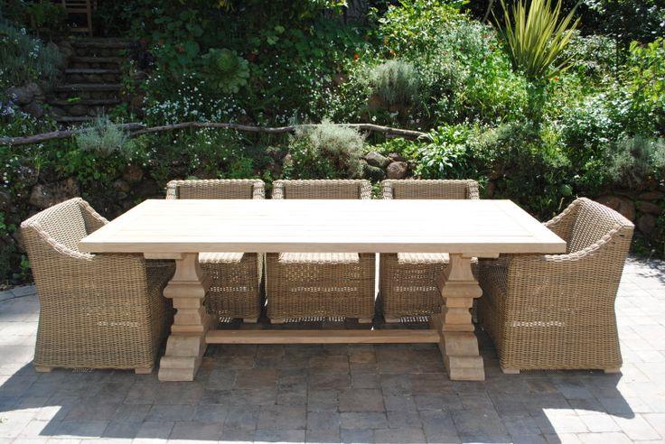 Tuscany Collection Reclaimed Teak Pedestal Base Table - Paradise Teak