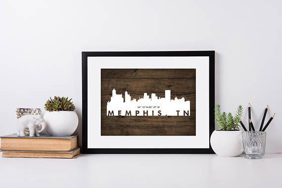 Memphis City Art coordinate art house warming newly weds