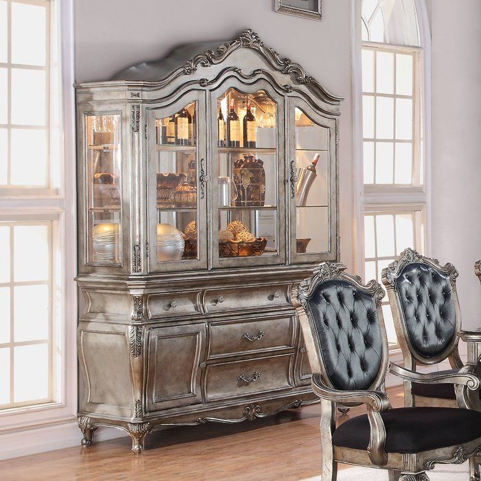 Wensley Lighted China Cabinet French Kitchen Decor In 2019