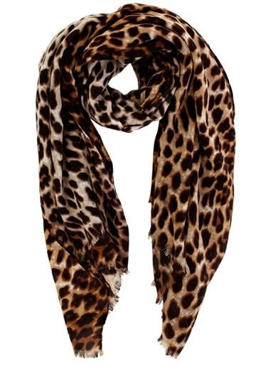 Oasis Leopard Print Scarf  Leopard print is a neutral. Wear this scarf with anything and everything! #yourstylistkaren #leopard