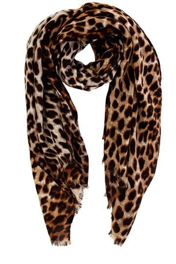 Oasis Leopard Print Scarf
