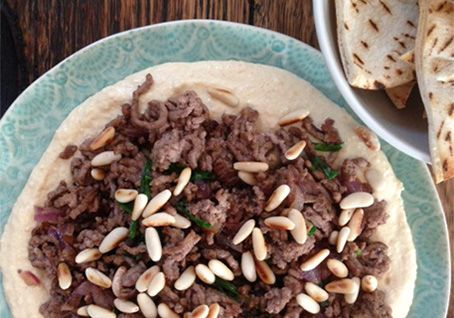 Beef and Hommus