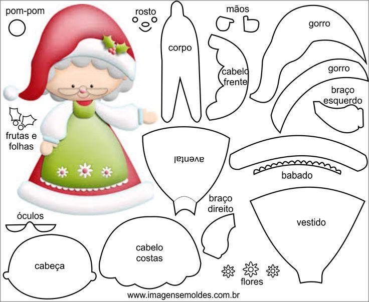 Resultado de imagen para molde feltro natal