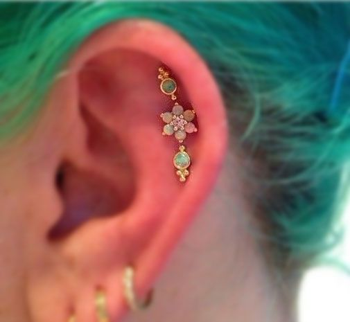 Visit Us Now ! for More Ear Piercing Ideas and Cartilage Jewelry, Tragus Earrings, Helix Hoops at MyBodiArt