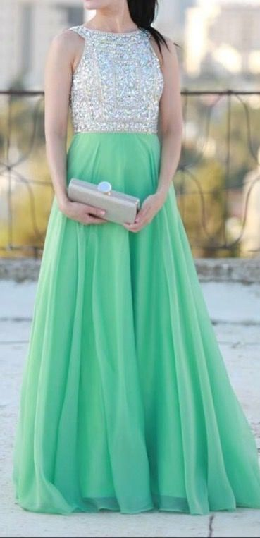 Mint Prom Dresses,A-Line Prom Dress