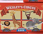25 Personalized Animal Cracker Boxes for Childrens Birthday Party Favors, Barnum Animal Cookies Circus or Carnival Theme