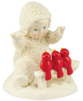 The Snowbaby gets the song bird chorus in sync. The Department 56 Snowbabies offer countless opportunities to celebrate love, friendship, inspiration and life's memorable moments. | Porcelain | Wipe c