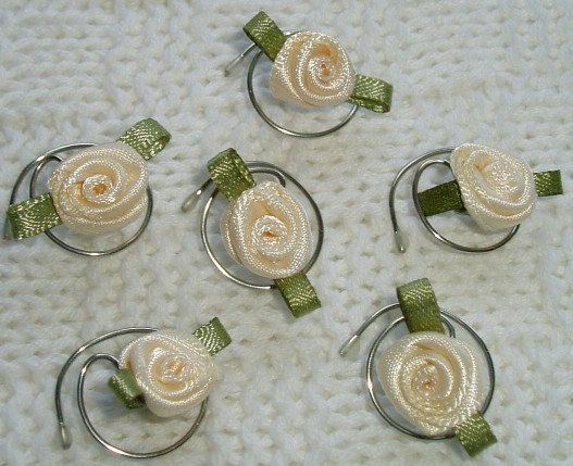 Hair Twists in Beautiful Cream Roses  Swirls Spins by hairswirls1, $9.99