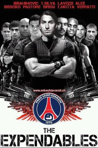 PSG the Expendables - http://www.2tout2rien.fr/psg-the-expendables/