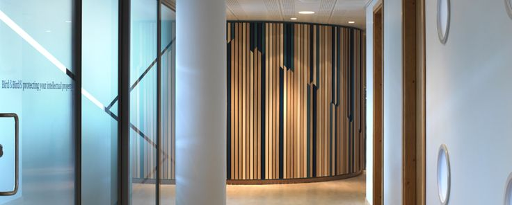 Gustafs linear ribs in two different veneers and colors. Beautiful created by architect Kjellander & Sjöberg.
