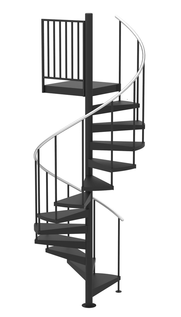 Best 48 D Classic Iron Non Code Spiral Stair Kit Primed Steel 400 x 300