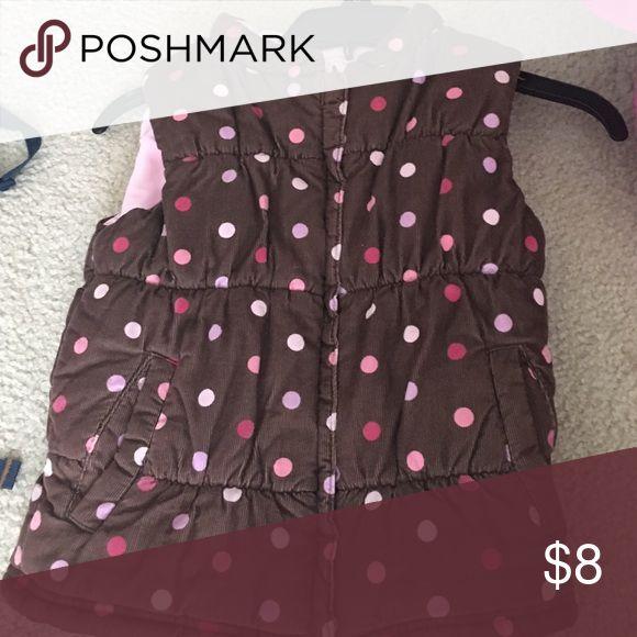 Polka dot vest Carters Brown and pink vest Carter's Jackets & Coats Vests