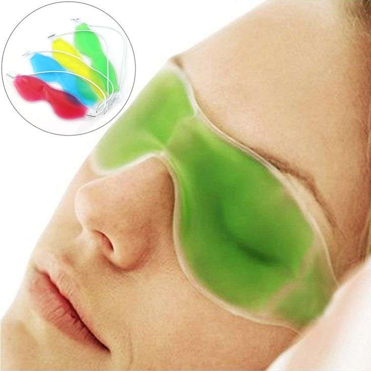 U119 New Arriv Gel Eye Mask Cold Pack Warm Hot Ice Cool Soothing Tired Eyes Headache Pad