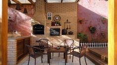 Espaço Gourmet : Balcones y terrazas rústicos de Juliana Zanetti Arquitetura e Interiores