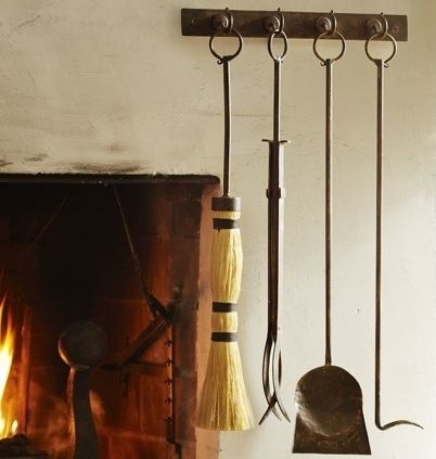Rustic fireplace tools and Log holder fireplace