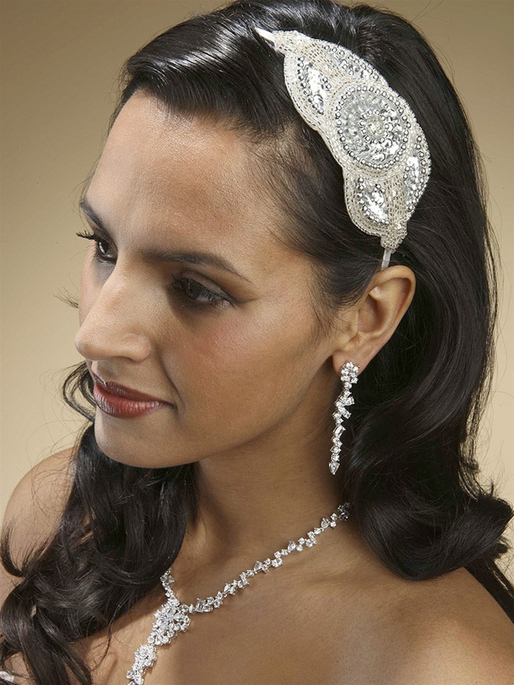 This opulent headband is perfect for the bride looking for