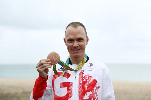 Bronze for Chris Froome in the men's individual time trial cycling at Rio 2016