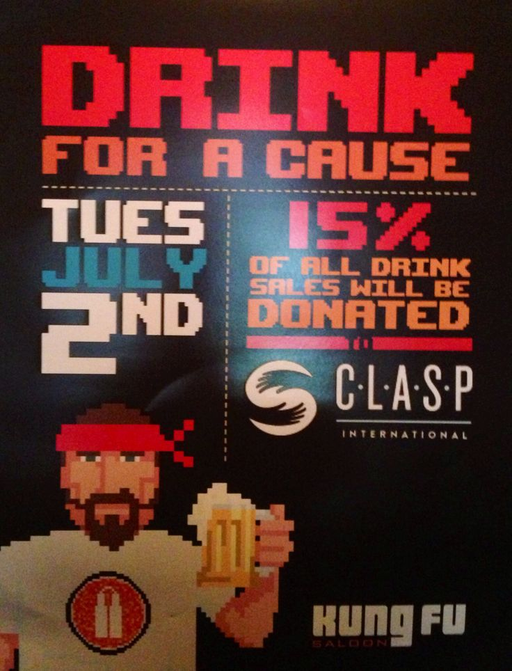 (Nun)Chuck Norris wants you to drink for a cause (not just because) at Kung Fu Saloon in Dallas.