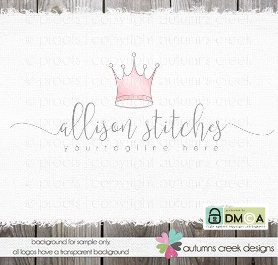 tiara logo crown logo premade Logo princess logo by autumnscreek