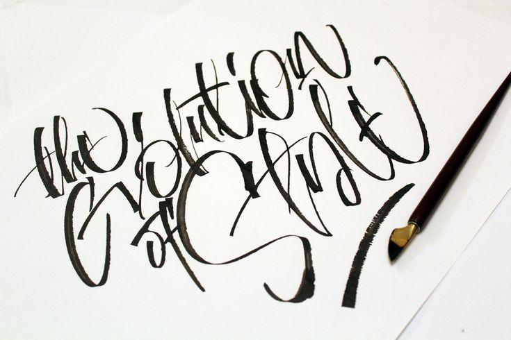 Calligraphi.ca — The Evolution of Style — folded pen — Sergey Shapiro