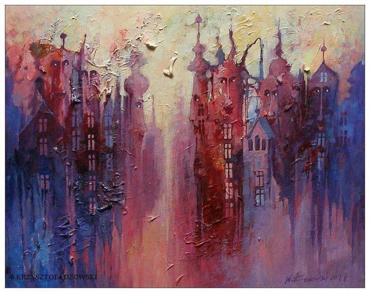 CITY   acrylic on canvas 50x40cm Krzysztof Lozowski