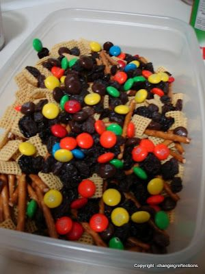 Nut-Free Trail Mix - Perfect snack for peanut-free kids or peanut-free zones at school.