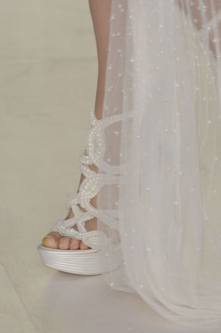 Shoes Under My Wedding Dress