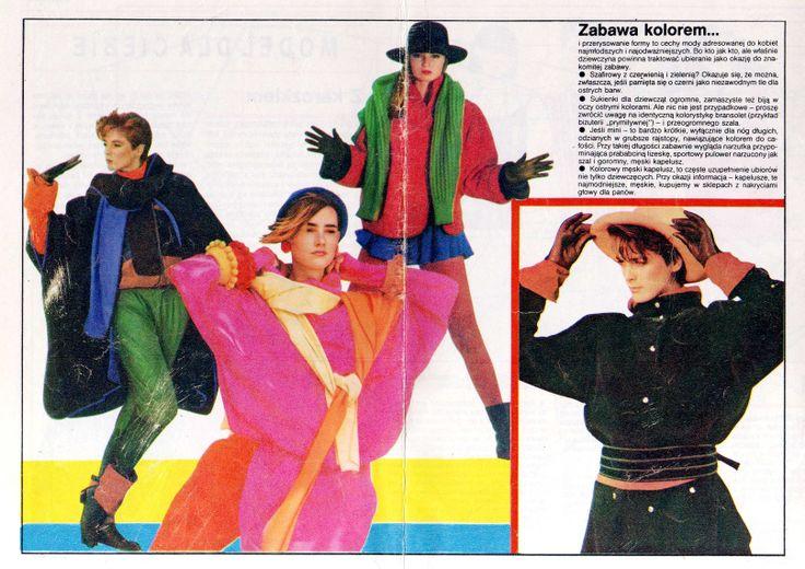 """from """"tylko dla ciebie"""" wydawnictwo specjalne """"ŚWIATA MODY"""" nr 10 '1984  models reprint from Linea Italiana, L'Officiel, L'Uomo, Annabella, Herren Journal, Brigitte, Marie Claire, Petra."""