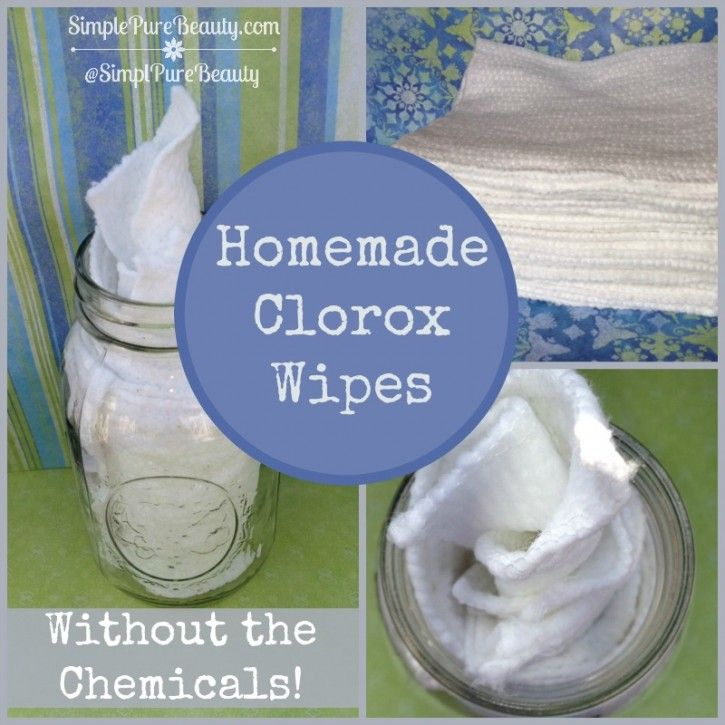 How to Make Homemade Clorox Wipes | SimplePureBeauty.com  #diycleaning #greencleaning