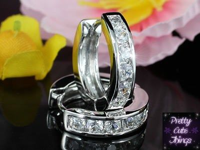 1.25 Carat CZ Simulated Diamond Huggie Earrings XE435