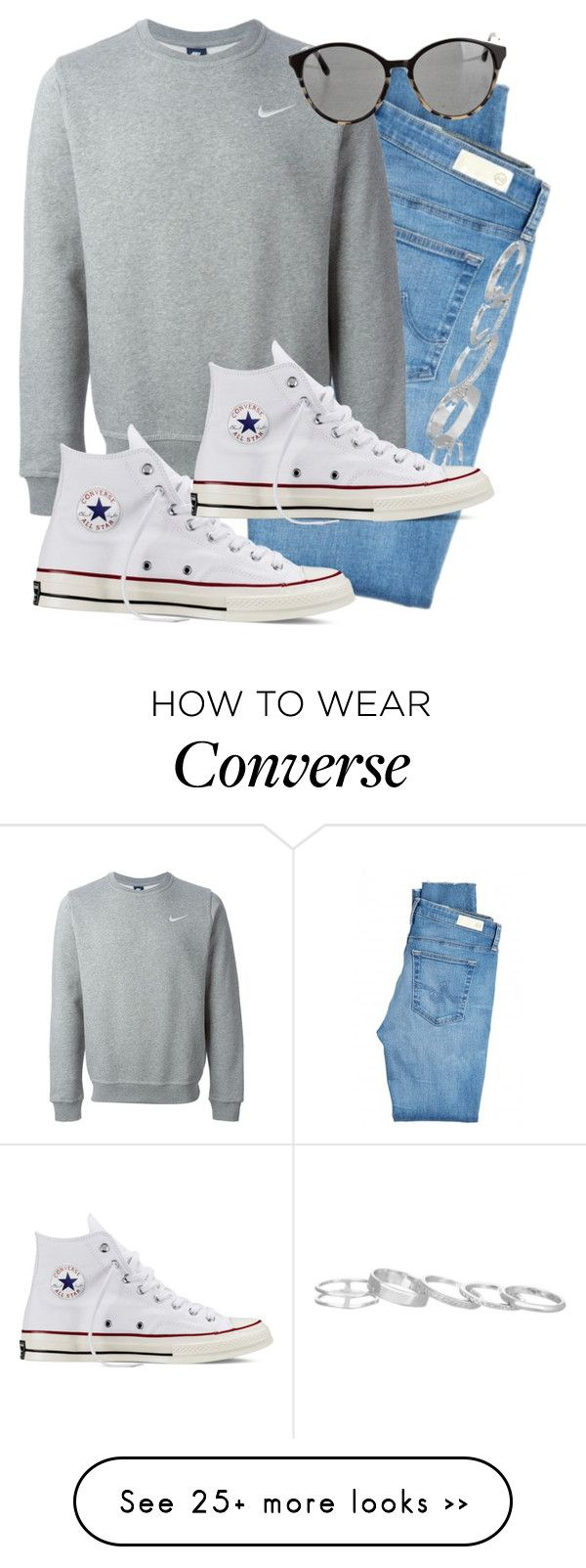"""""""Untitled #91"""" by beatrizmh96 on Polyvore featuring AG Adriano Goldschmied, Kendra Scott, NIKE, Converse and STELLA McCARTNEY"""