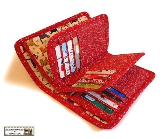 Wallets sewing pattern with 27 pockets PDF by NapkittenPattern